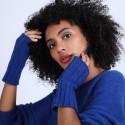 Mitaines en laine & alpaga - Shely 6644 iris - 03 Bleu foncé