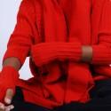 Mitaines en laine & alpaga - Shely 6680 ecarlate - 52 Rouge