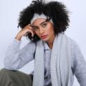 Bandeau cache oreilles en laine & alpaga - Shira 6612 gris clair - 11 Gris clair