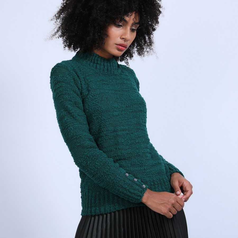 Pull col montant manches boutonnées - Sumaya