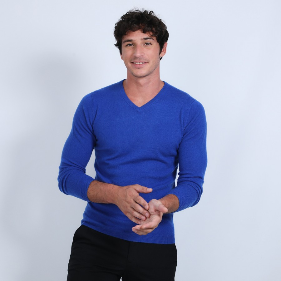 V-neck jumper in cashmere - Benjamin