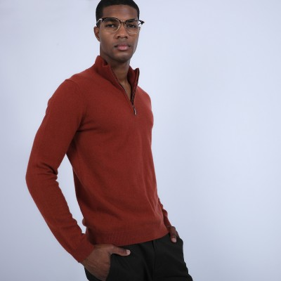 Cashmere zip-up 2-ply jumper - Blaise
