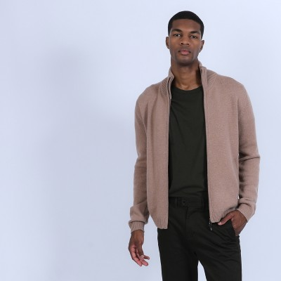 Zipped cardigan made of 4-ply cashmere - Balthazar