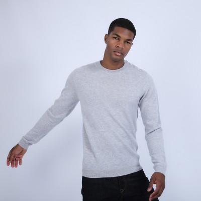 Button shoulder 4-ply cashmere jumper - Bonifas