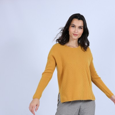 Round-neck jumper with buttons on the back - Becky
