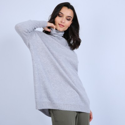 Loose-fit cashmere roll-neck jumper - Bouda