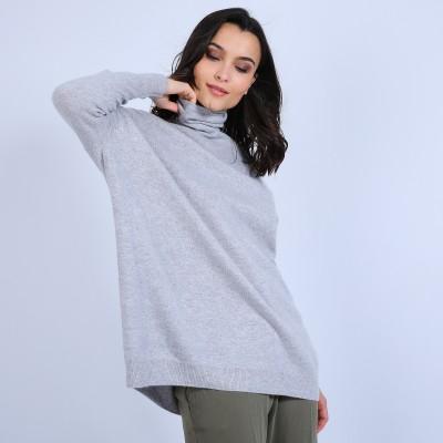 Loose-fit cashmere roll-neck jumper - Bouda