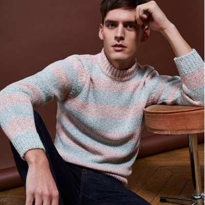 Striped high-neck jumper - Romuald
