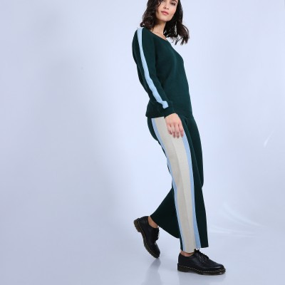 Sporty trousers in cashmere cotton - Palmyre