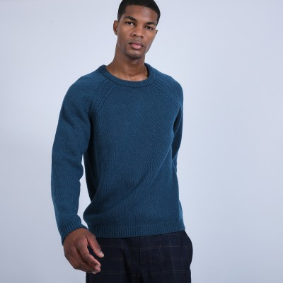 Round-neck wool and alpaca jumper - Ring