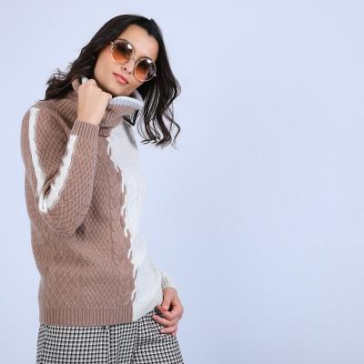Cashmere cableknit jumper - Promethée