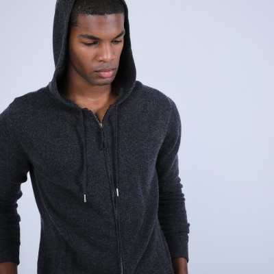 Cashmere Hooded Zip Sweatshirt - Owen