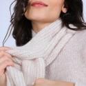 Echarpe avec trou en mohair - Shade 6600 blanc - 12 Beige clair