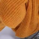 Echarpe avec trou en mohair - Shade 6660 cannelle - 89 Moutarde