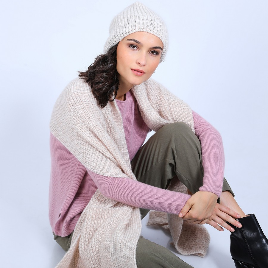 Bonnet en mohair - Summer 6600 blanc - 12 Beige clair