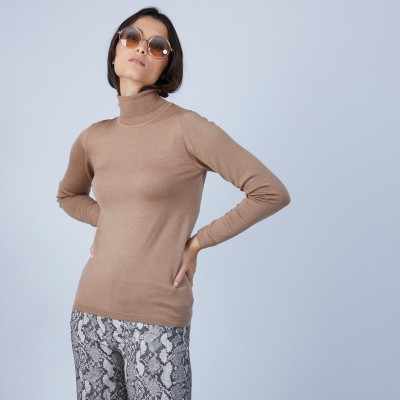 Roll-neck jumper in wool and silk - Bettie