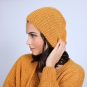 Bonnet en mohair - Summer 6660 cannelle - 89 Moutarde