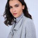 Manteau avec poches en laine & alpaga - Sydney 6612 gris clair - 11 Gris clair