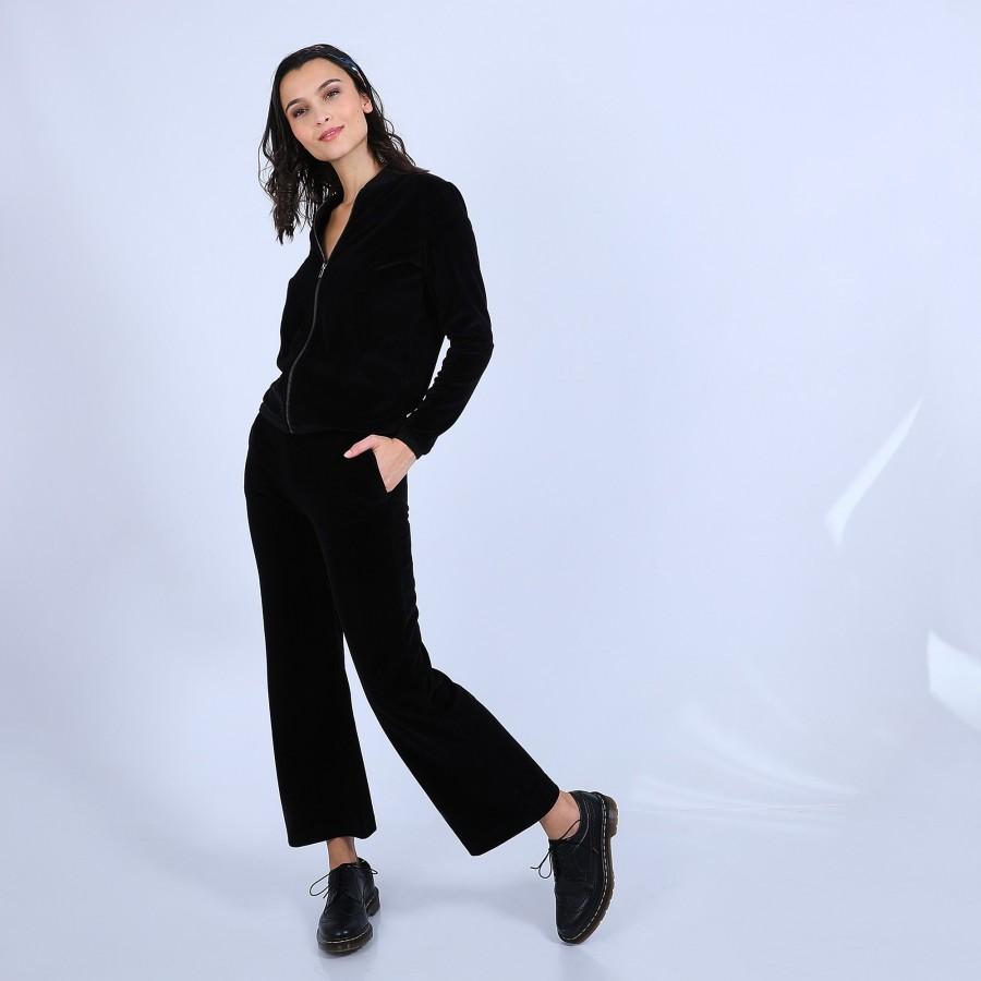 Pantalon en velours - Sauge 6770 noir marine - 01 noir