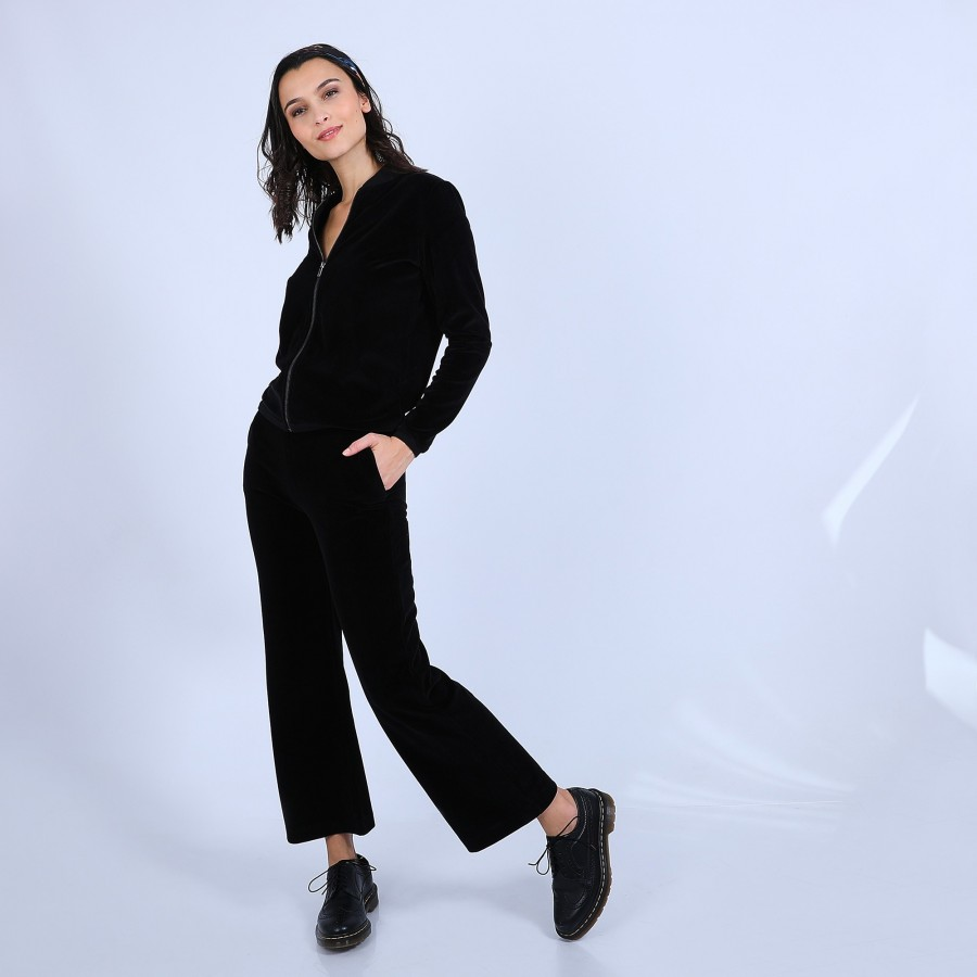 Velour trousers - Sauge