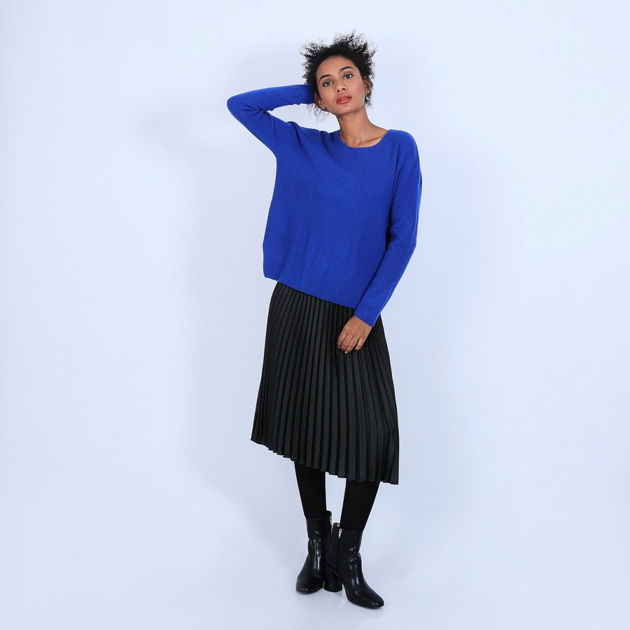 Pull col rond boutons arrière - Becky