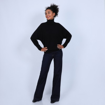 Roll-neck batwing jumper - Bob