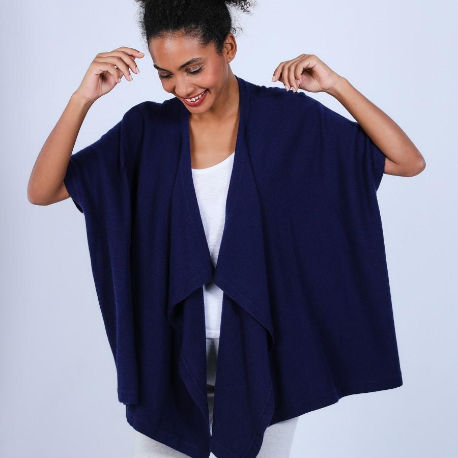 Gilet kimono sans manches - Harriet 6646 indigo - 75 Bleu nuit