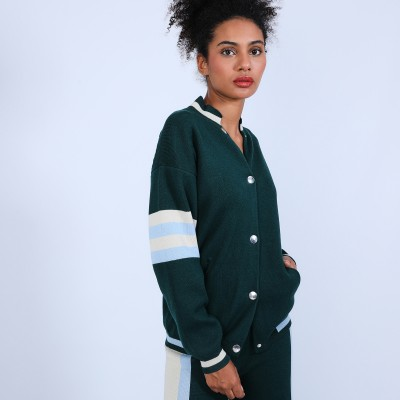 Baseball jacket in cotton cashmere - Perline