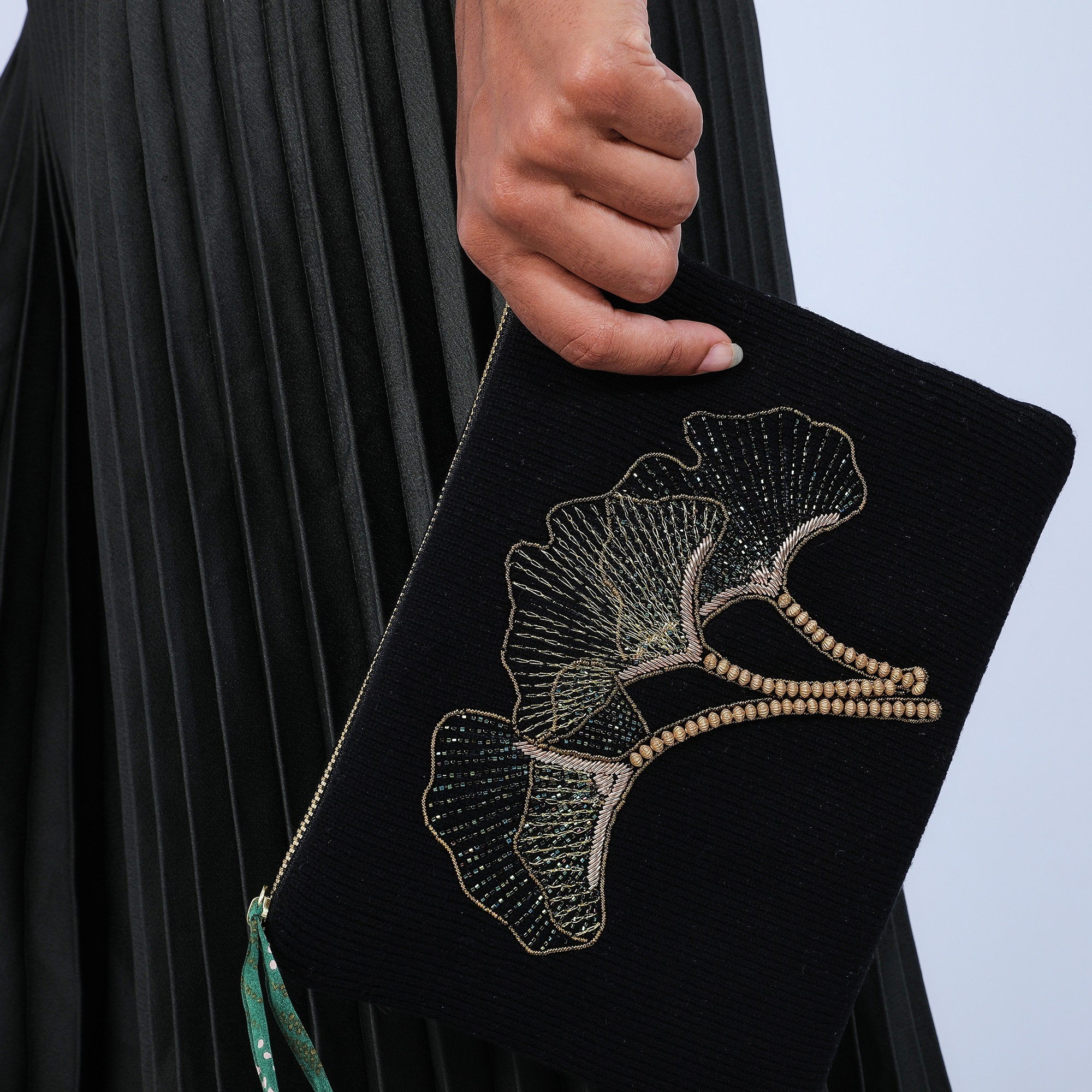 Pochette en soie & laine cachemire