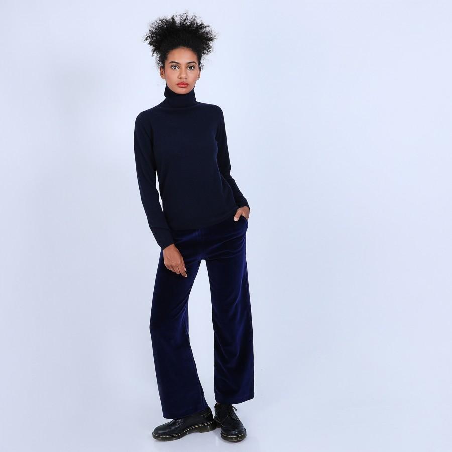 Pantalon en velours - Sauge 6771 bleu/noir - 75 Bleu nuit