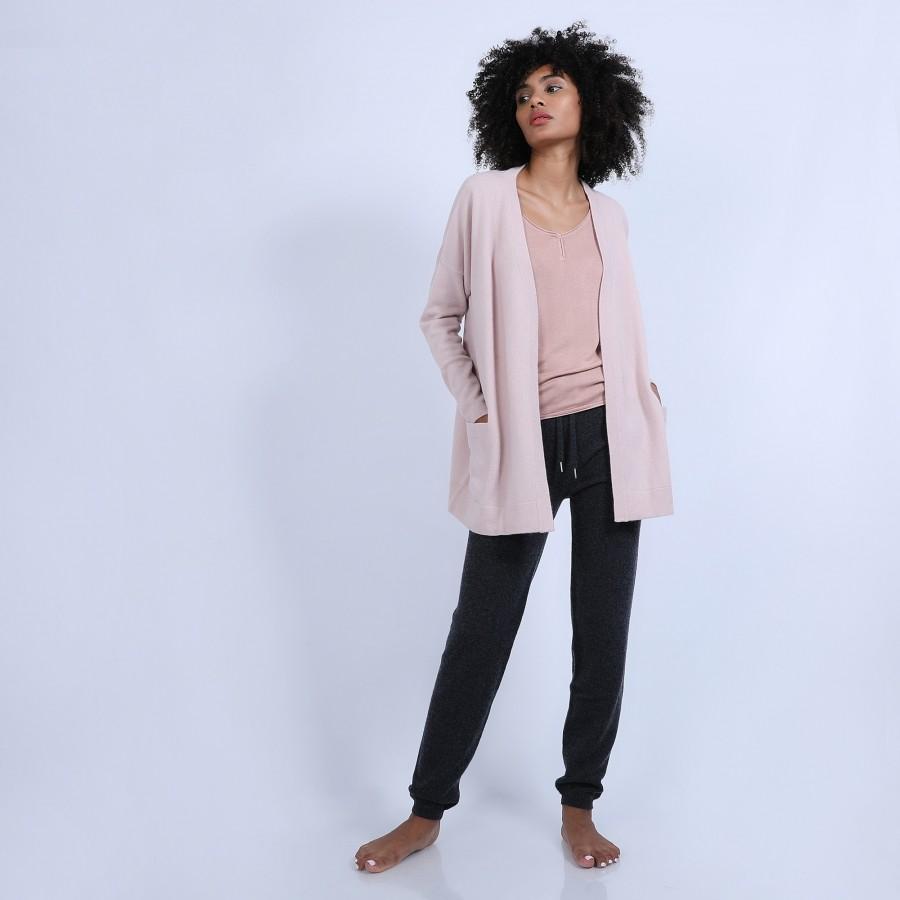 Gilet avec poches en cachemire - Hazel 6602 colombe - 24 Rose clair