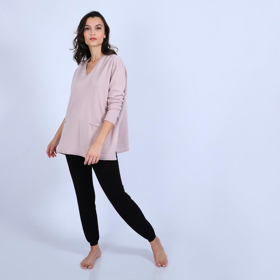 Loose V-neck cashmere jumper – Hilary