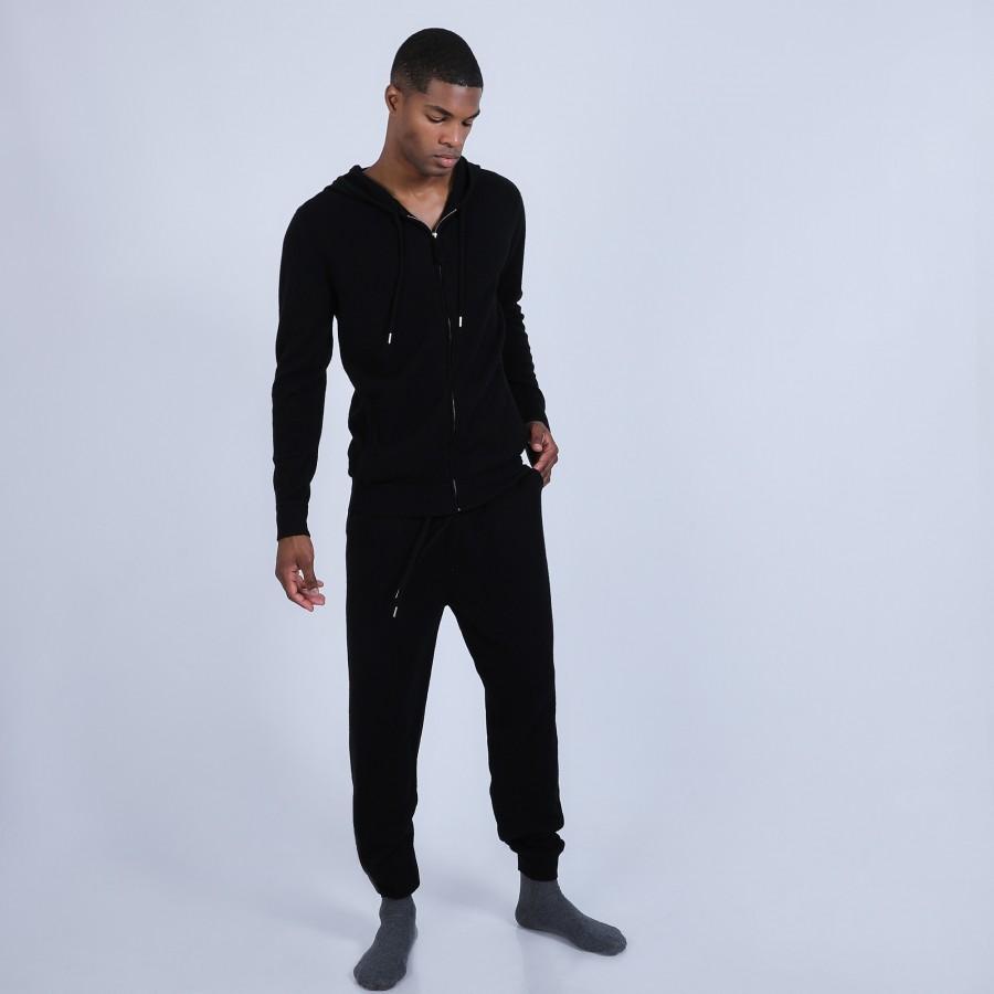 Pantalon en 100% cachemire - Omer 6610 noir - 01 noir