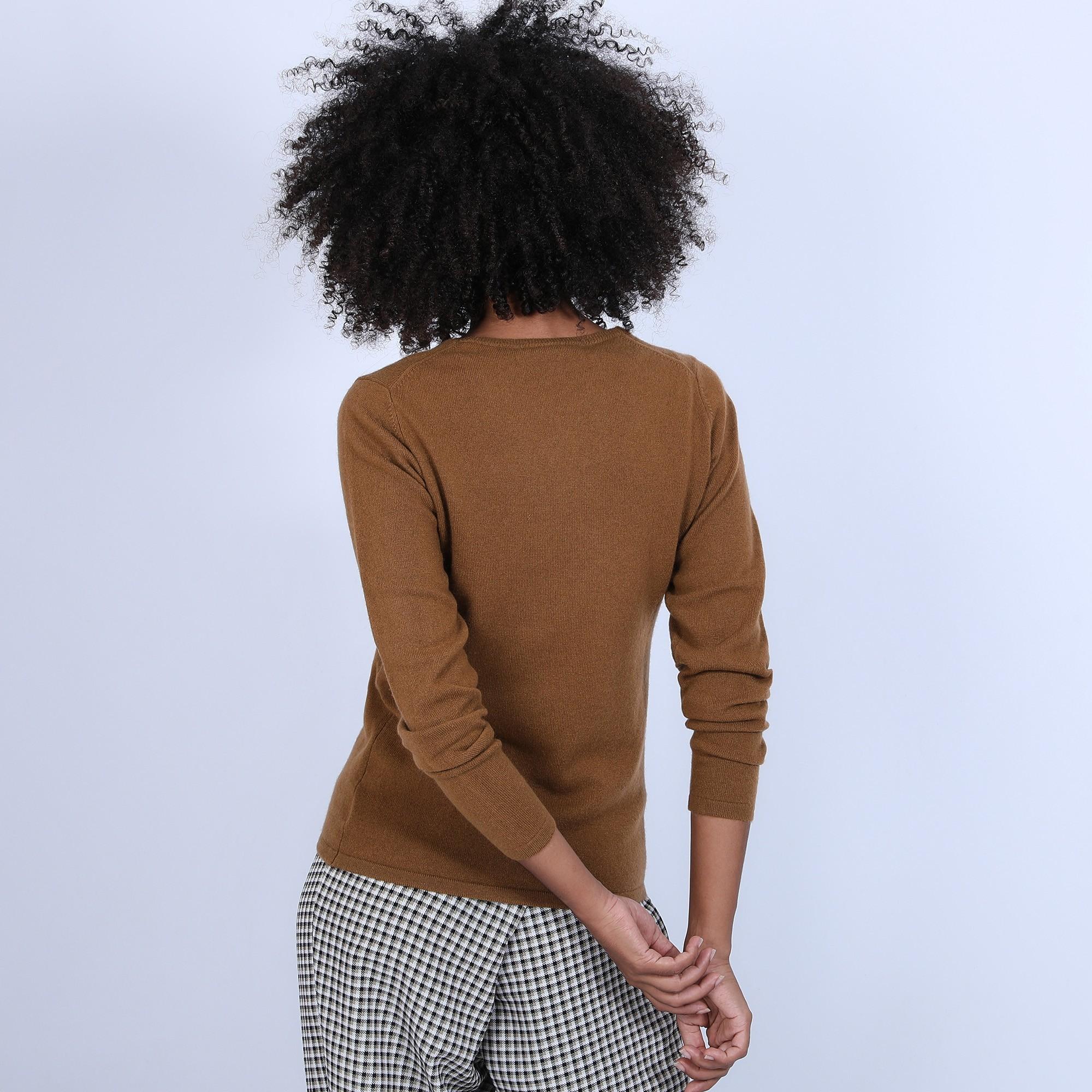 Pull en cachemire pour femme col rond