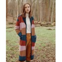 Long multicoloured cashmere cardigan - Saison