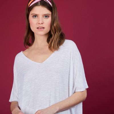 Long flamed linen T-shirt - Bil
