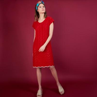 Robe courte en coton bio - Agnès