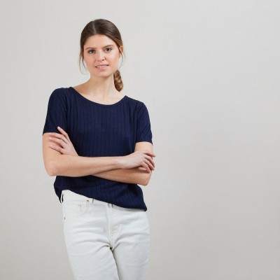 Natural silk T-Shirt - Aïcha