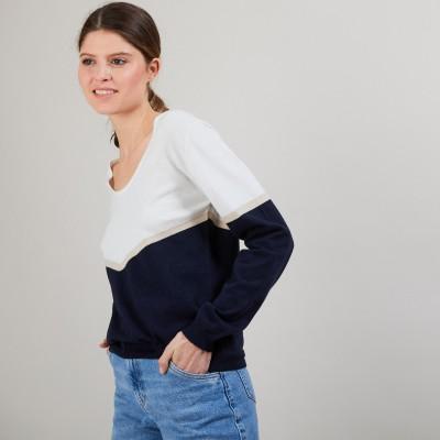 Pull coton bio tricolore - Audrey