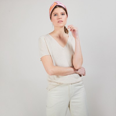 Flamed linen T-shirt - Balkan