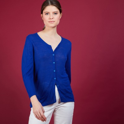 Flamed linen cardigan - Bao