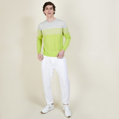 DALTON polo shirt in cotton and linen