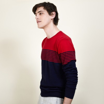 Striped cashmere and linen sweater - Dalton