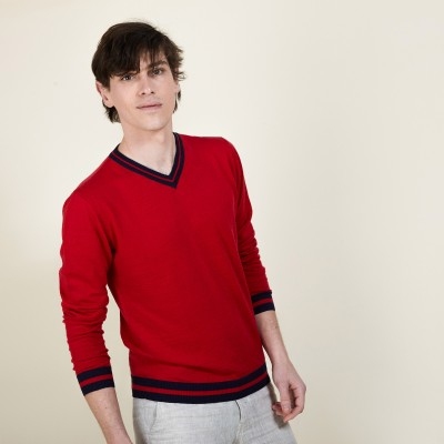Fancy cashmere and linen sweater - Diago