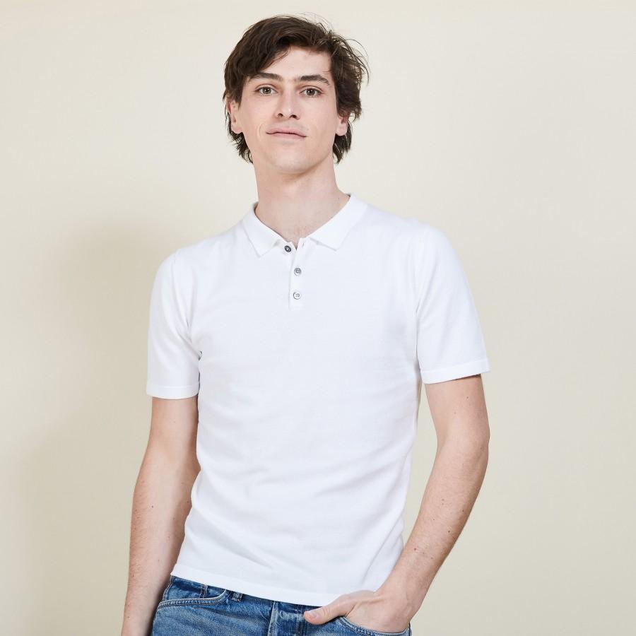 Polo homme en coton - Bora 6800 blanc - 02 Blanc