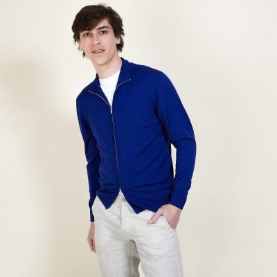 Men's zip-up merino wool cardigan - Bastian