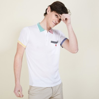 Colored polo shirt in Fil Lumière - Baptiste