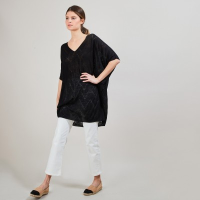 Long flamed linen tunic - Carl