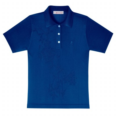 T-shirt col polo femme manches courtes Donatella