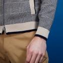 Veste en coton zippé avec poches - Doha 6904- 05 Bleu Marine
